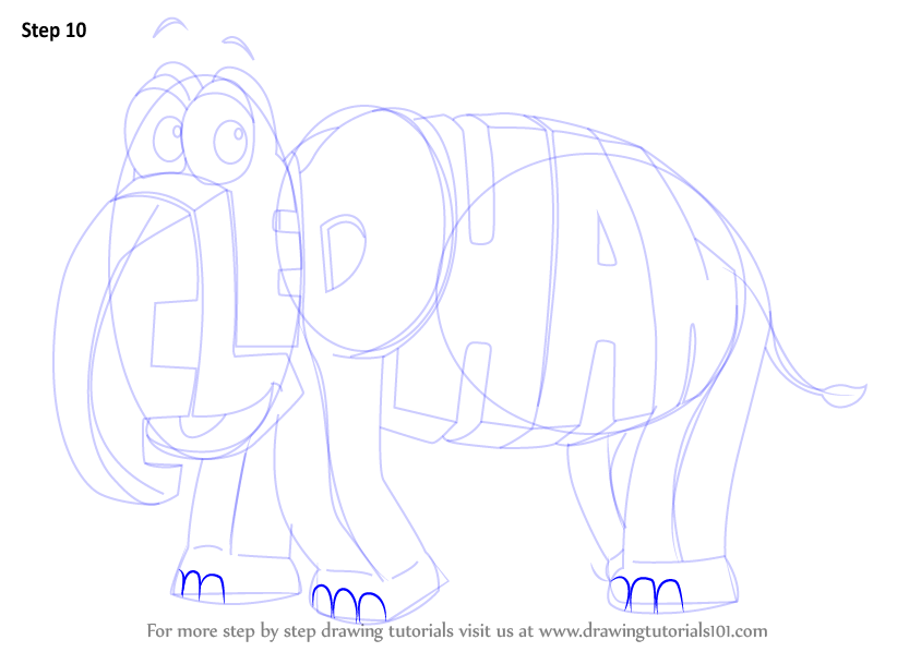 Step by Step How to Draw Elephant from WordWorld ...