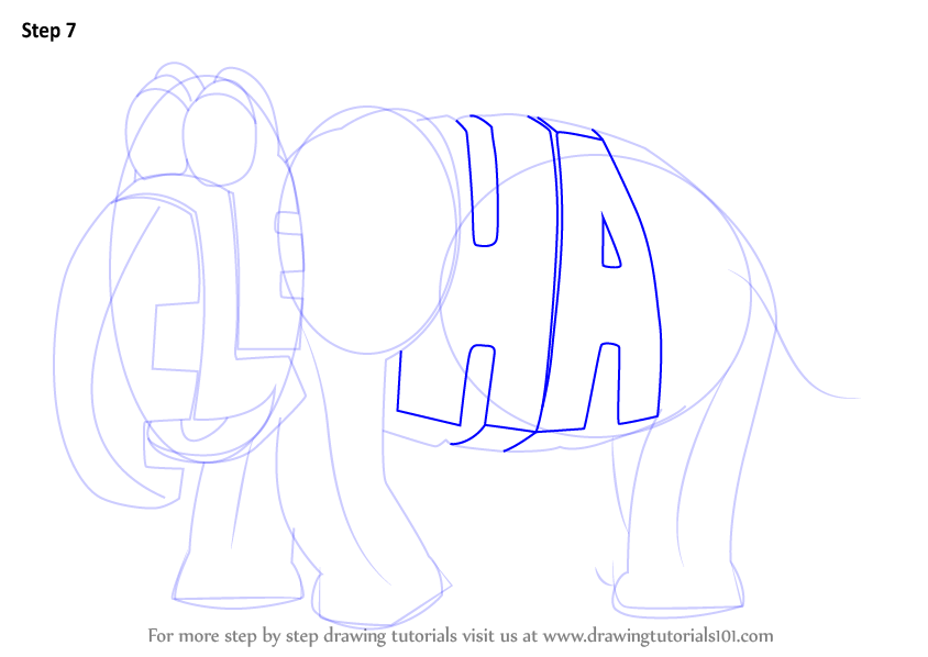 Learn How to Draw Elephant from WordWorld (WordWorld) Step ...