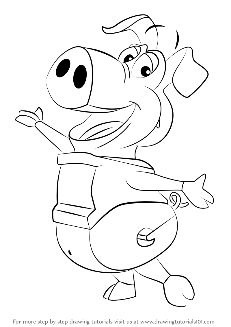 Learn How to Draw Pig from WordWorld