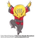 How to Draw Omi from Xiaolin Showdown