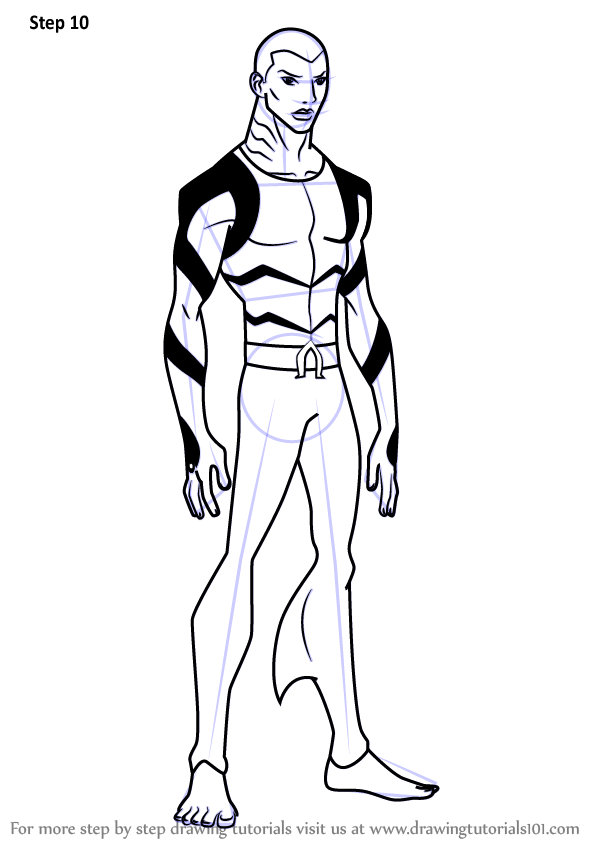 Learn How To Draw Aqualad From Young Justice Young