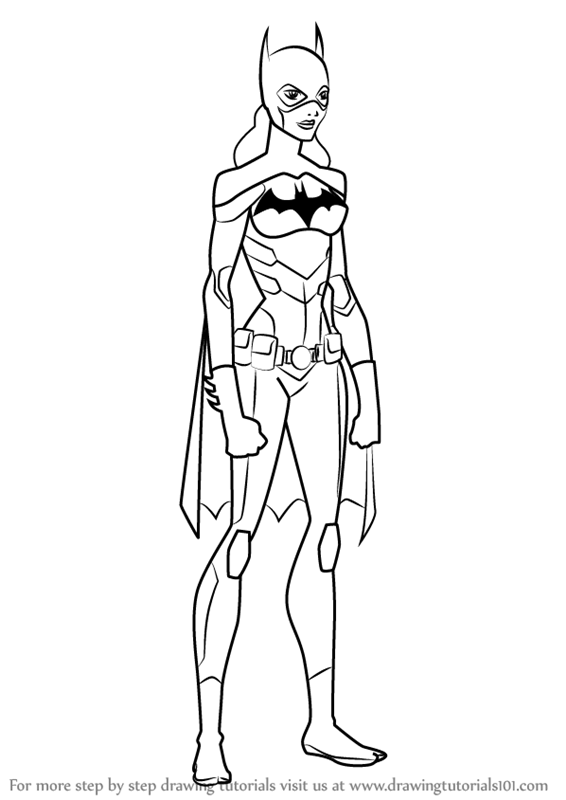 Learn How To Draw Batgirl From Young Justice Young Justice Step By Step Drawing Tutorials