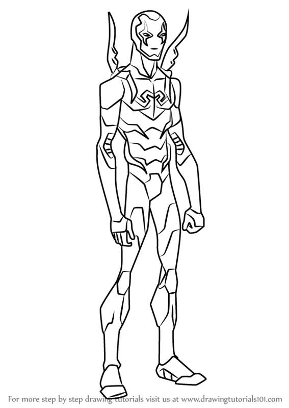 Learn How to Draw Blue Beetle from Young Justice Young