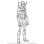 How to Draw Blue Beetle from Young Justice