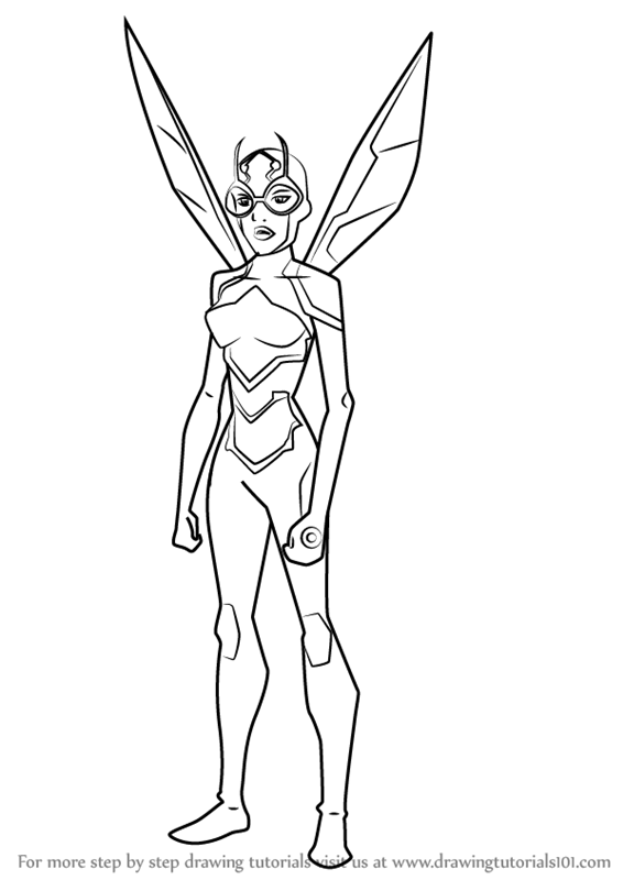 How To Draw Bumblebee From Young Justice Step 1