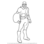 How to Draw Guardian from Young Justice