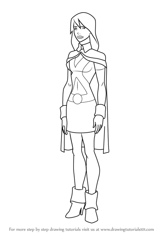 superboy coloring pages - learn how to draw miss martian from young justice young