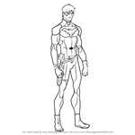 How to Draw Nightwing from Young Justice