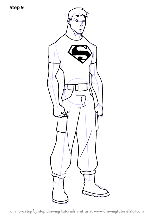 Learn How to Draw Superboy from