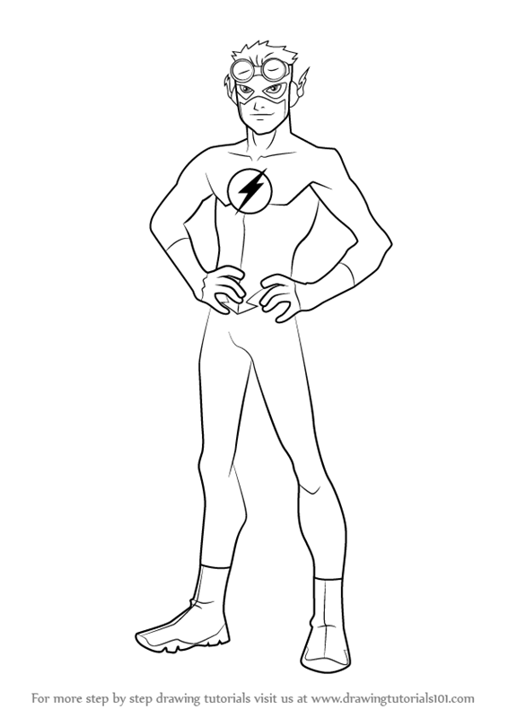 How To Draw Kid Flash From Young Justice