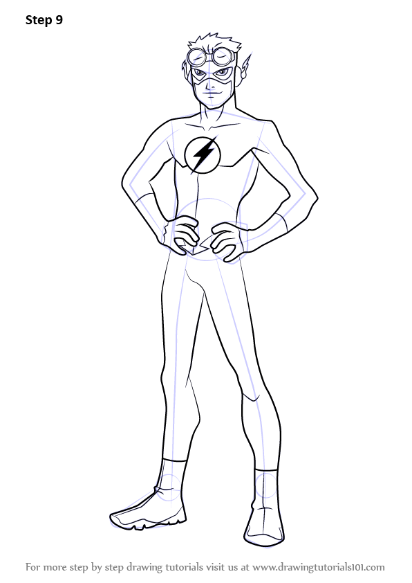 Learn How to Draw Kid Flash from