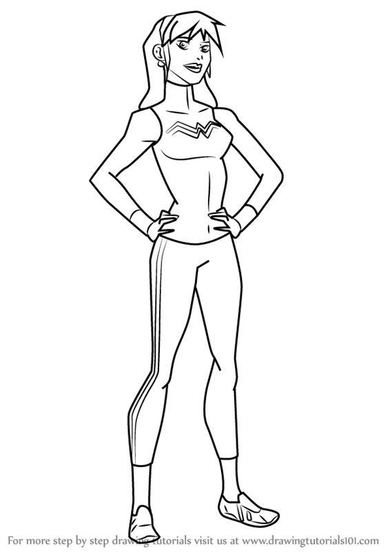 Young Justice Miss Martian Coloring Pages