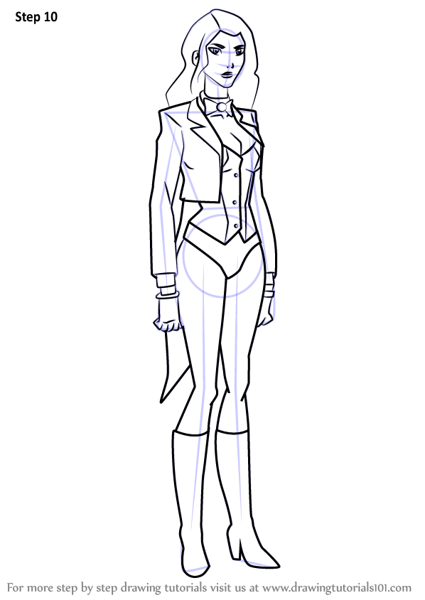 Learn How To Draw Zatanna From Young Justice Young