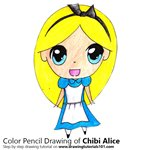 How to Draw Chibi Alice from Alice in Wonderland