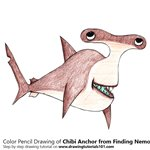 How to Draw Chibi Anchor from Finding Nemo