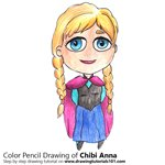 How to Draw Chibi Anna from Frozen