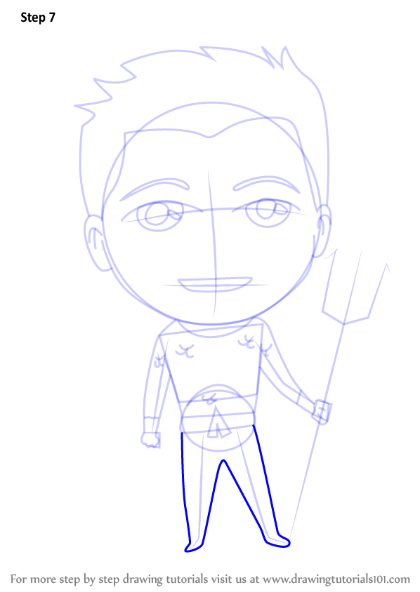 Learn How To Draw Chibi Aquaman (Chibi Characters) Step By Step  Drawing Tutorials