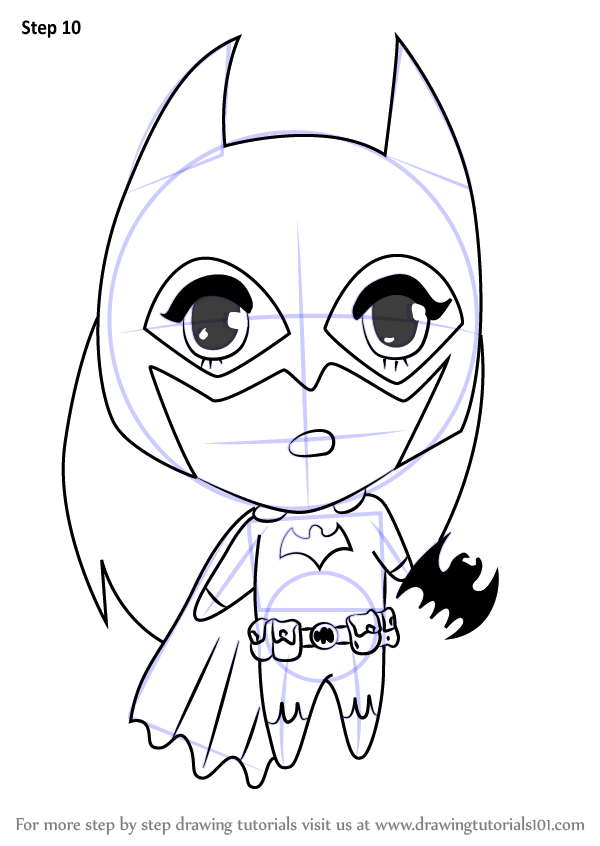 learn how to draw chibi batgirl chibi characters step by