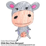 How to Draw Chibi Ben from Barnyard