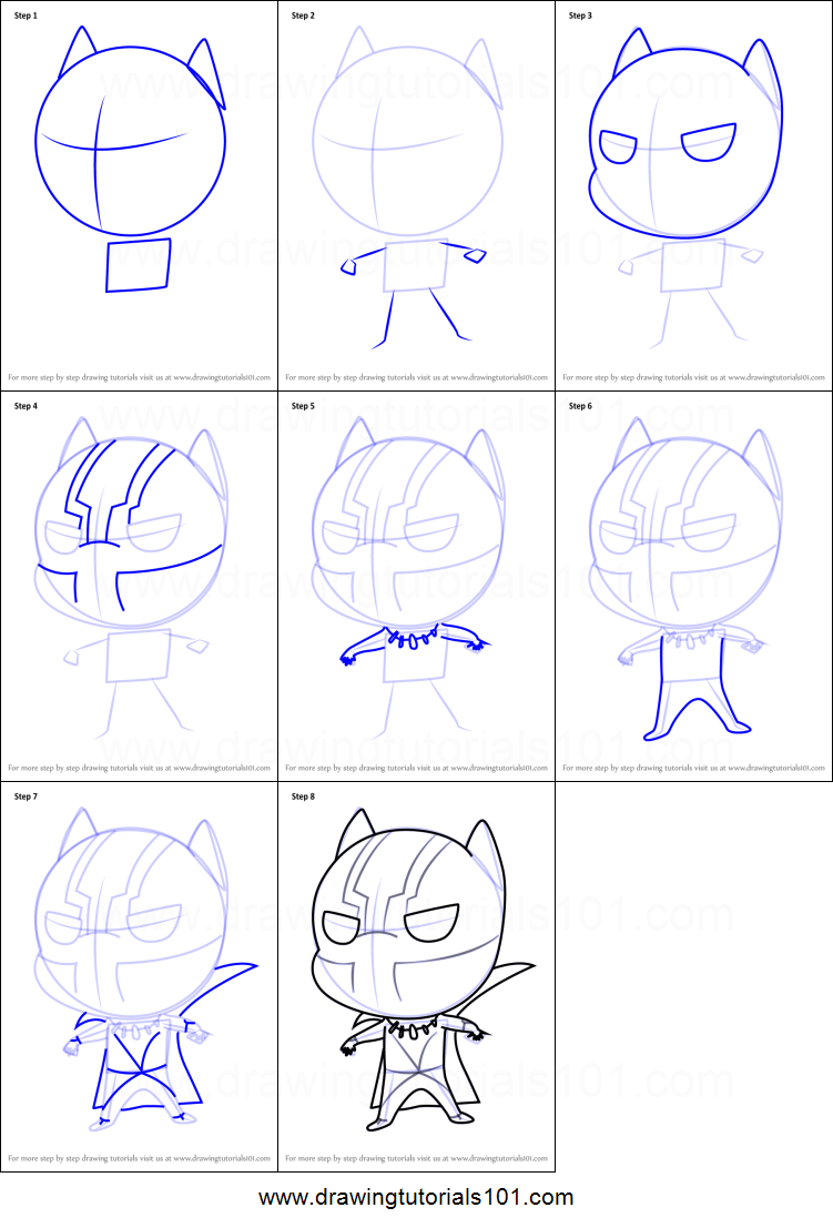How to Draw Chibi Black Panther printable step by step ...