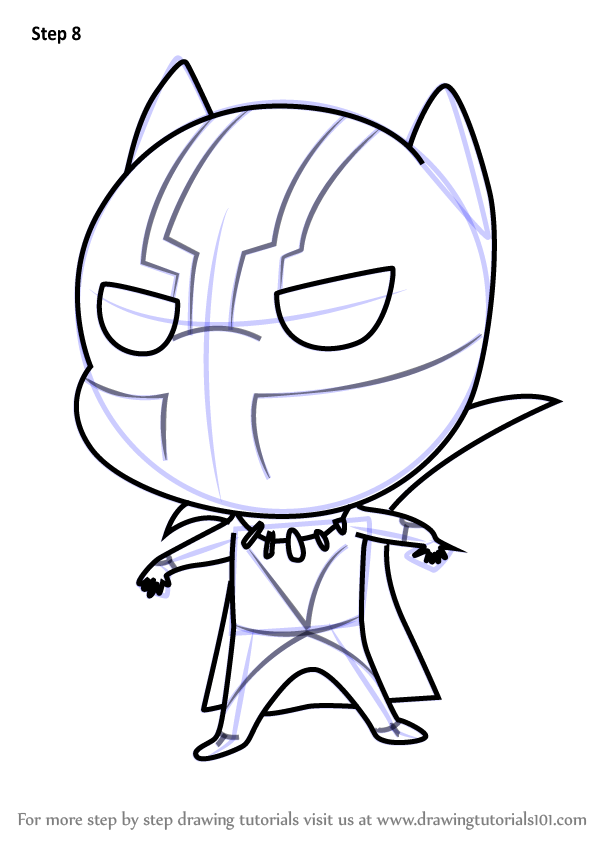 Learn How to Draw Chibi Black Panther