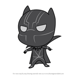 How to Draw Chibi Black Panther