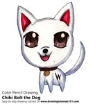 How to Draw Chibi Bolt the Dog