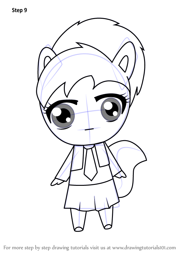 Learn How To Draw Chibi Brittany From Alvin And The