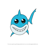How to Draw Chibi Bruce from Finding Nemo