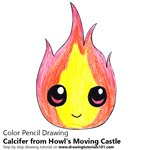 How to Draw Chibi Calcifer from Howl's Moving Castle