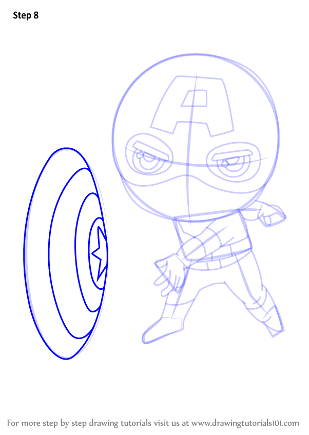 Learn How to Draw Chibi Captain America (Chibi Characters ... | 602 x 848 png 63kB