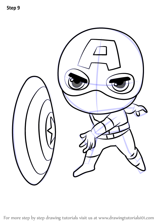 Learn How To Draw Chibi Captain America Chibi Characters