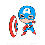How to Draw Chibi Captain America