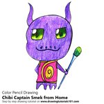 How to Draw Chibi Captain Smek from Home