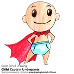 How to Draw Chibi Captain Underpants