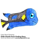 How to Draw Chibi Charlie from Finding Dory