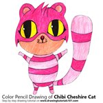 How to Draw Chibi Cheshire cat