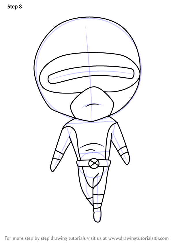 Learn How To Draw Chibi Cyclops Chibi Characters Step By