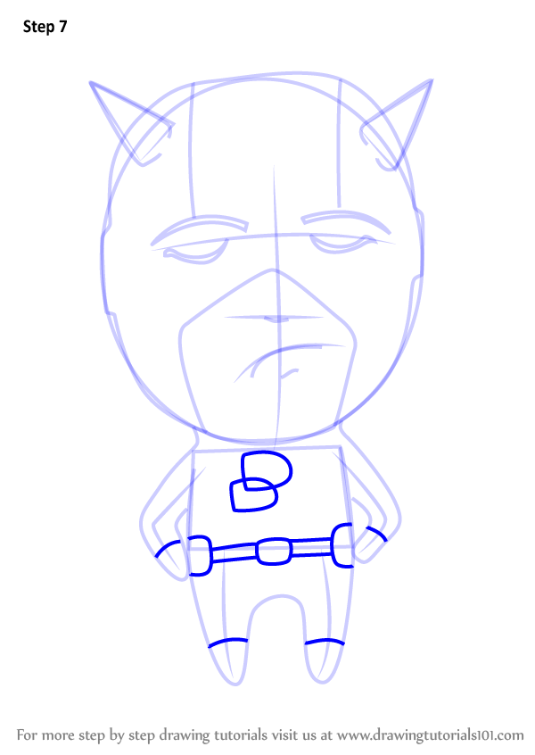 Learn How To Draw Chibi Daredevil Chibi Characters Step