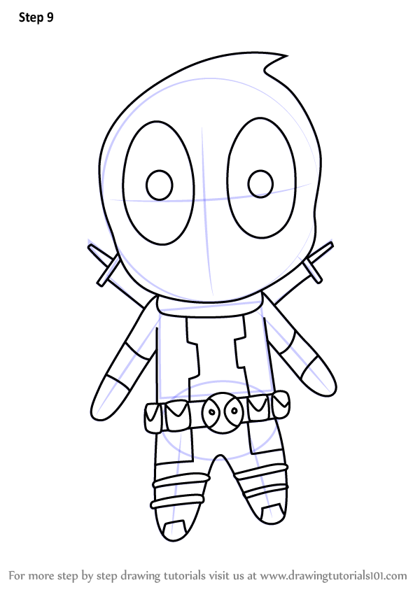 learn how to draw chibi deadpool chibi characters step by step