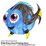 How to Draw Chibi Dory from Finding Dory