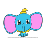 How to Draw Chibi Dumbo Elephant from Dumbo