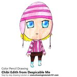 How to Draw Chibi Edith from Despicable Me