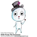 How to Draw Chibi Frosty The Snowman