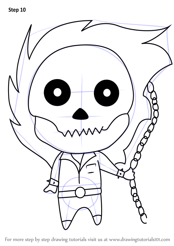 Learn How To Draw Chibi Ghost Rider Chibi Characters