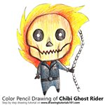 How to Draw Chibi Ghost Rider