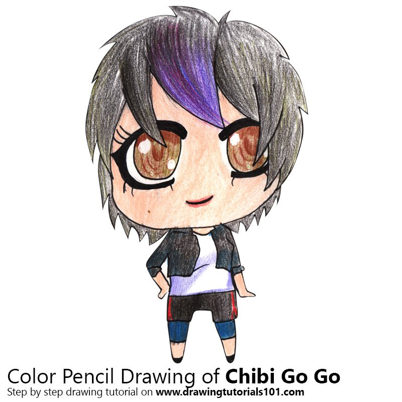 Chibi Go Go from Golan the Insatiable Color Pencil Drawing