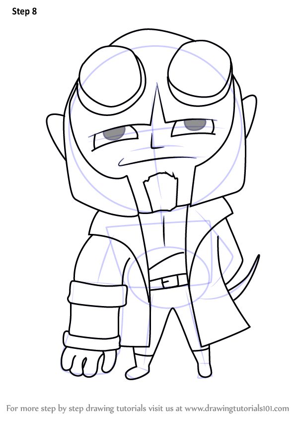 Learn How To Draw Chibi Hellboy Chibi Characters Step By