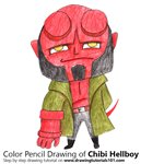 How to Draw Chibi Hellboy