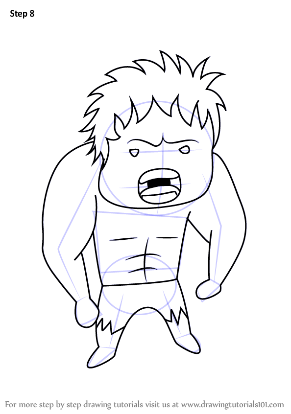 Learn How To Draw Chibi Hulk Chibi Characters Step By